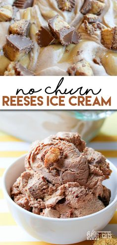 Make your own ice cream, no churn required! This No Churn Reeses Ice Cream Recipe is so simple anyone can make it and enjoy!!