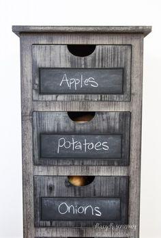 smaller dresser for vegetable bin!