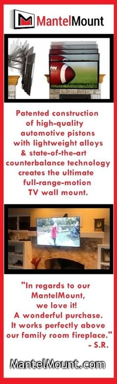 1000 images about MantelMount TV Wall Mount on Pinterest