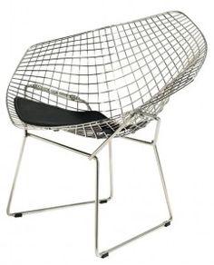 Krzesło HarryArm - D2 - czarna poduszka