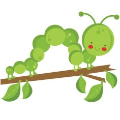 {Daily FREE Cut File} Caterpillar on Twig --Available for FREE Today only, June 27