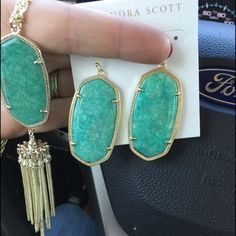 Just showing! My new babies obsessing over amazonite. The Harlow is sold out at all three stores in my city so I might just have to take a gamble and order it because it is TO DIE FOR! Kendra Scott Jewelry Necklaces