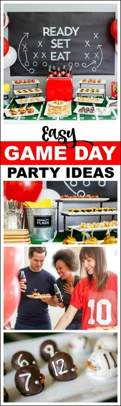 Awesome Game Day Football Party Ideas with Coke, Nabisco crackers, and @evite! #ad | CatchMyParty.com