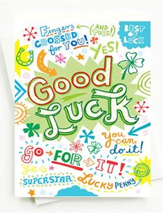 picture about Free Printable Good Luck Cards titled 27 Least complicated Fantastic luck playing cards visuals within 2014 Beneficial luck playing cards