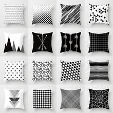 9 All Time Best Tips: Decorative Pillows Quotes Reading Nooks cute decorative pillows blankets.Decorative Pillows With Sayings Sweets decorative pillows ideas floor cushions.Decorative Pillows On Sofa Inspiration. Black And White Cushions, Black White, White Sofas, Living Room Decor, Bedroom Decor, Bedroom Ideas, Living Rooms, Geometric Cushions, Geometric Art