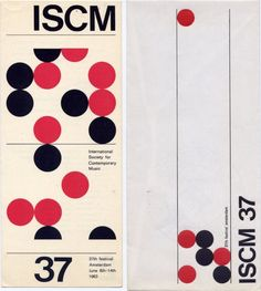 1963 poster / International Society for Contemporary Music 37th Fes Amsterdam