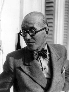 thestylebuff:The Man Who Loved Double-Breasted Suits.Le Corbusier.