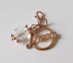 Charms Dream-Anhänger rosegold mit Kristall von soschoen auf DaWanda.com