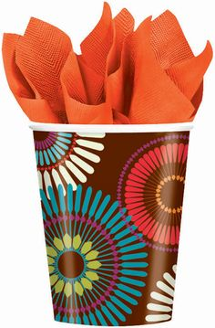 Auctionopia: Modern Motif Paper Cups, 8-Pack