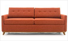 The Hopson from Joybird.com is a mid-century modern take on the classic function of a sleeper sofa.