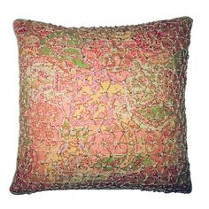 R&MIndustries Vie En Rose Knitted Overlay Throw Pillow