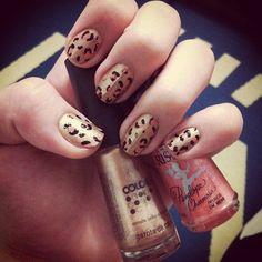 unhas de oncinha, leopard nail polish