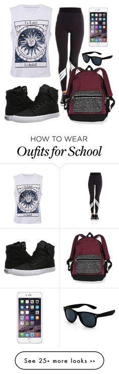 """""""school"""" by eemaj on Polyvore featuring Y-3, Supra and Victoria's Secret"""