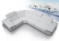 Dima Queen Full Top Grain Italian Leather Sectional Sofa Set with Built-In iPhone Dock & Speakers - VGDIQUEEN