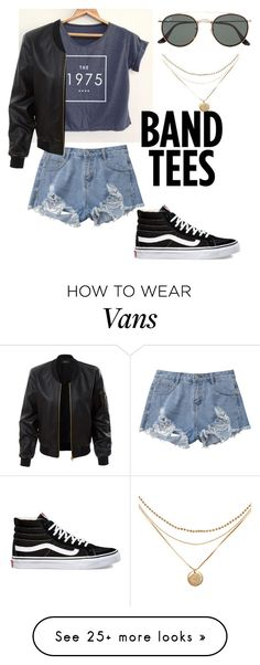 """""""I ❤️ The 1975"""" by casualrayana on Polyvore featuring Vans, LE3NO and Ray-Ban"""