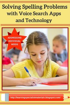 Come learn how to solve spelling problems with voice search apps and technology! #dyslexia #writing #spelling