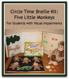 Fun activities for emergent braille readers use hands-on activities at the Kindergarten level Hands On Activities, Book Activities, Toddler Activities, Literacy Skills, Early Literacy, Toddler Speech, Five Little Monkeys, Circle Time, Special Needs Kids