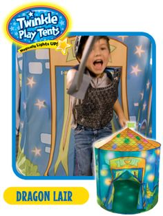 ChiIL Mama: ChiIL Holidaze Giveaway #6: Twinkle Play Tents Light Up Dragon Lair and Princess Palace Play Tents (2 winners/ $39.99 Value)