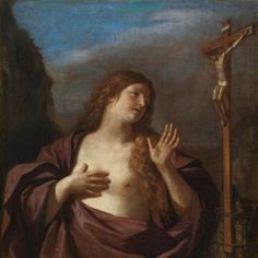 The Penitent Magdalen - Guercino.  1645-49.  Oil on canvas.  119.8 x 101.2 cm.  Museo del Prado, Madrid, Spain.