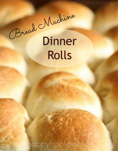 Bread Machine Dinner Rolls (happy hooligans) - so easy to make, and better than any store bought dinner roll.  Perfect for Thanksgiving and Christmas dinners!