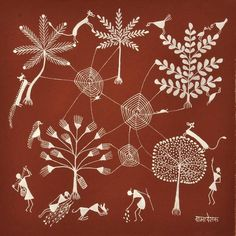 Warli PaintingWarli art It is the vivid expression of daily and social events of the Warli tribe and used by them to embellish the walls of village houses. This was the only means of transmitting folklore to a populace not acquainted with the written word. This art form is simple in comparison to the vibrant paintings of Madhubani.
