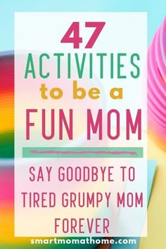 47 Activities to be a Fun Mom Parenting doesn't have to be stressful and boring. 47 fun kids activities to do with your kids to make you the most fun mom in the neighborhood. Your kids will love you for it. 47 Activities to be a Fun Mom Parenting Advice, Kids And Parenting, Gentle Parenting, Peaceful Parenting, Foster Parenting, Parenting Quotes, Beste Mama, Fun Activities For Kids, Toddler Speech Activities