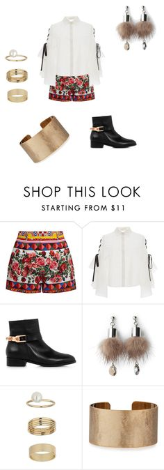 """Untitled #190"" by adellolita on Polyvore featuring Dolce&Gabbana, Jonathan Simkhai, Eugenia Kim, Simons, Miss Selfridge and Panacea"