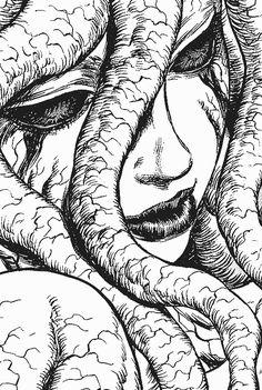 Berserk, Comics, D&D, Gaming. Arte Horror, Horror Art, Aesthetic Art, Aesthetic Anime, Dark Fantasy, Fantasy Art, Manga Art, Anime Art, Junji Ito
