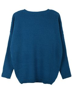 LE3NO Womens Round Neck Dolman Sleeve Knit Pullover Sweater