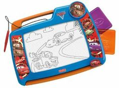 Fisher Price Disney/Pixar Cars 2 Doodle Pro by Fisher-Price. $24.99. Easy-slide eraser that clears the screen like magic. Two character stencils included. Classic Doodle Pro drawing fun, featuring favorite Cars 2 friends!. Screen-saver pen is positioned for right- or left-handed drawing. Big magnetic drawing screen and durable frame with easy-carry handle!. From the Manufacturer                Classic Doodle Pro drawing fun…featuring favorite Cars 2 friends! Two ch...