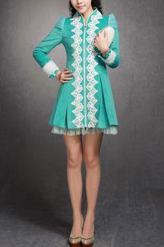 Vintage Royal Sequin Lace Embellished Coat $116.00