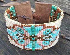 Hand-loomed bracelet, hand woven bracelet, Native American, southwest, boho,