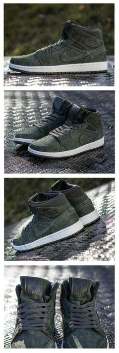 """Air Jordan 1 Mid Nouveau """"Sequoia"""" All Jordan Shoes 46f75533c"""