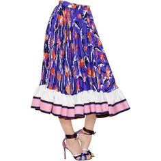 Emilio Pucci Women Printed Georgette Gathered Skirt ($3,155) ❤ liked on Polyvore featuring skirts, multicolor, white ruched skirt, emilio pucci, ruched skirt, high-waisted skirts and white high waisted skirt