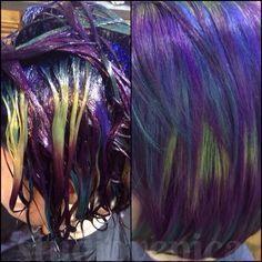 Oil slick vivid hair!!