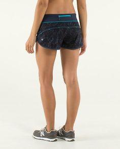 Run:Speed Short   lululemon athletica   color: beautiful baroque inkwell/inkwell/surge   Lululemon.com