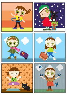 illustration, miliboom, paris, profil, petite fille, vectoriel, illustration jeunesse, severine, vacances, pluie, nuage, noel, lapin, chat, yoga, cercreau, rentrée