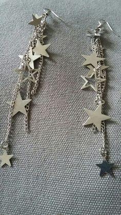 Sternen Ohrringe in silber
