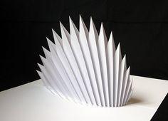 Paper pop-up sculpture Paper Folding Techniques, Paper Folding Art, 3d Paper, Paper Crafts, Up Book, Book Art, Pop Up Karten, Libros Pop-up, Paper Structure