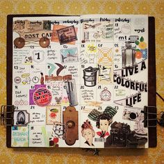 """""""August 2015 in review. #midori #travelersnotebook #travelersnote #tn #notebooks #notes #midoritravelersnotebook #journaling #monthinreview #monthly…"""""""