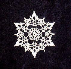 pretty pretty crochet snowflake