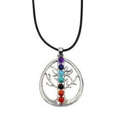 Collar Mandalas, árbol de la vida, siete chakras