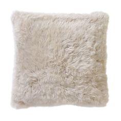 DwellStudio Smooth Sheepskin Pillow | DwellStudio