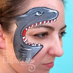 Hungry Shark Face Paint