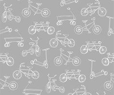 Wallpaper for kids rooms - Bicycles by Sarah Jane for Pop and Lolli