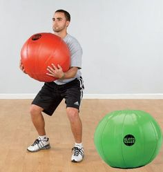 Filled with water, Slosh Medicine Balls are the ultimate in unstable training tools.