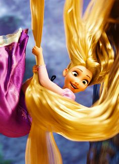 Disney 30 Day Challenge-Day 10: Rapunzel, I think, has the best hair best she can flip it around and swing from it, tie up bad guys and even use it has a blanket!!!!! And it 'was' magical!