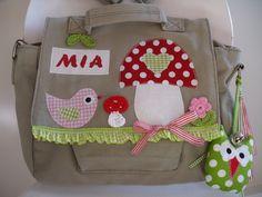 ~♥~ Kindergartenrucksack und Tasche in EINEM...;O) ~♥~    ...Ein Glück-bring-Pilz für einen super Start in eine tolle Kindergartenzeit...     Mit d...