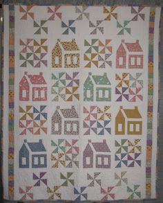 Schoolhouse quilt made by Lisa Frederick