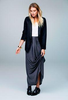 Dree Hemigway in a beautiful skirt